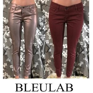 Bleulab Jeans - NWOT BLEULAB Reversible Metallic Skinny Jeans